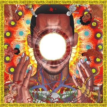 Et ici, la pochette du très bon album de hip-hop expérimental You're Dead!, de Flying Lotus, créée par Kago.
